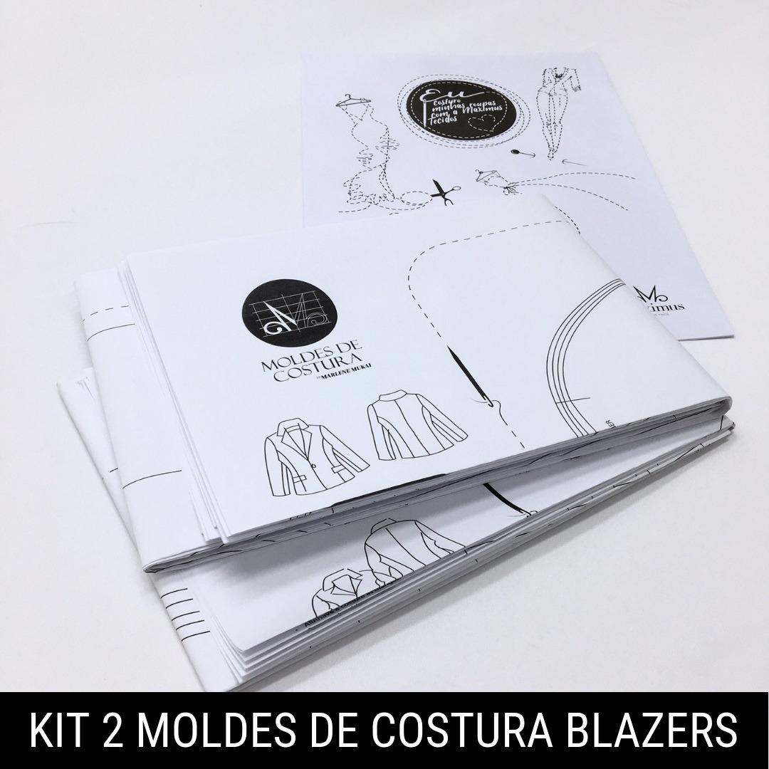 Kit 2 moldes de costura blazers - Marlene Mukai