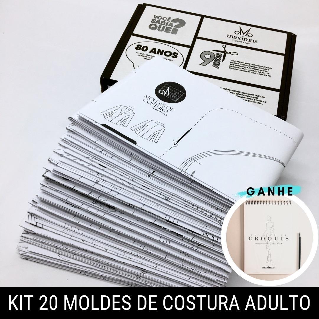 Kit 20 moldes de costura adulto - Marlene Mukai