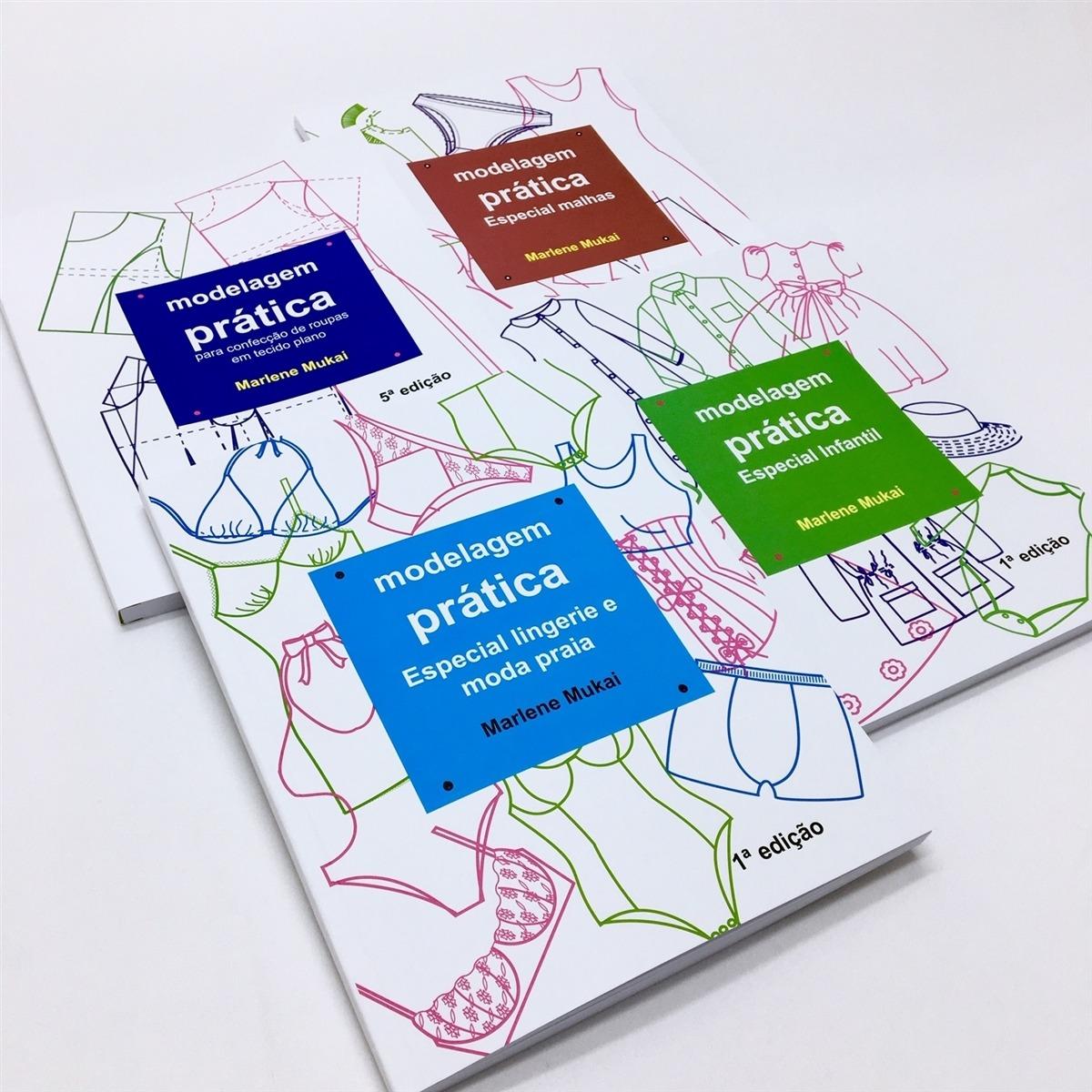 Kit 4 livros modelagem prática - Marlene Mukai