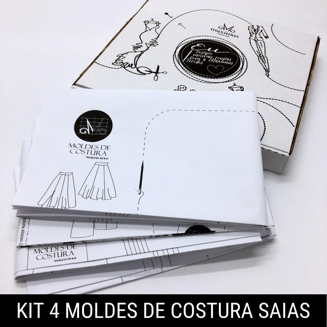 Kit 4 moldes de costura saias - Marlene Mukai