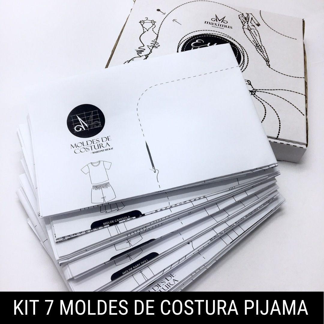 Kit 7 moldes de costura pijama - Marlene Mukai