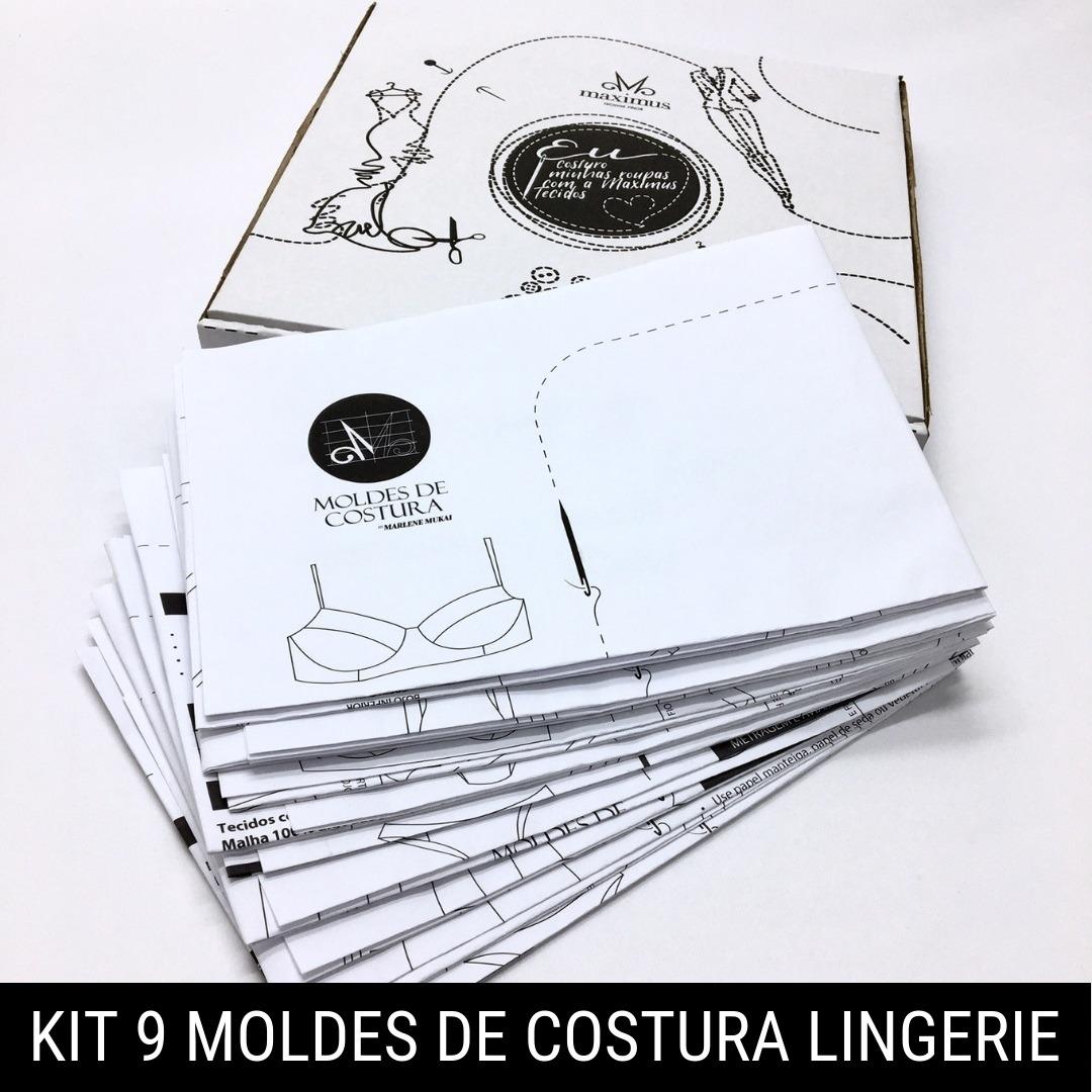 Kit 9 moldes costura lingerie e moda íntima - Marlene Mukai