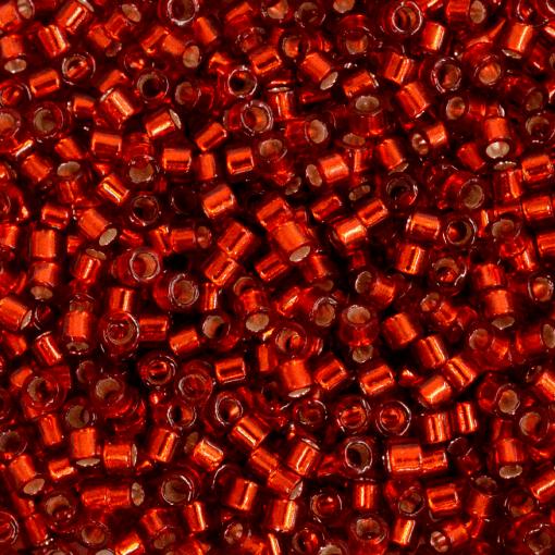 Miçanga de Vidro Delica Miyuki Vermelho Transparente (DB603) 11/0 = 1,6mm