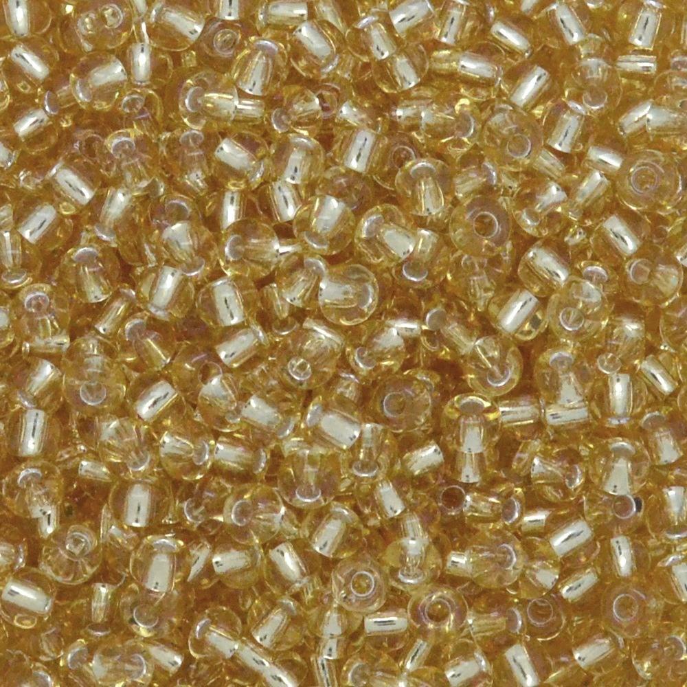 Miçanga Transparente Preciosa Ouro Novo 9/0=2,6mm 500g