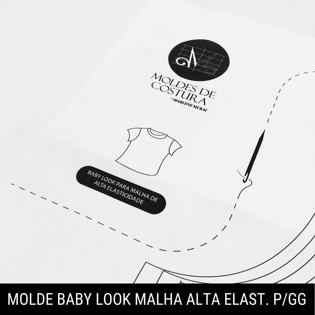 Molde baby look malha alta elasticidade P/GG - Marlene Mukai