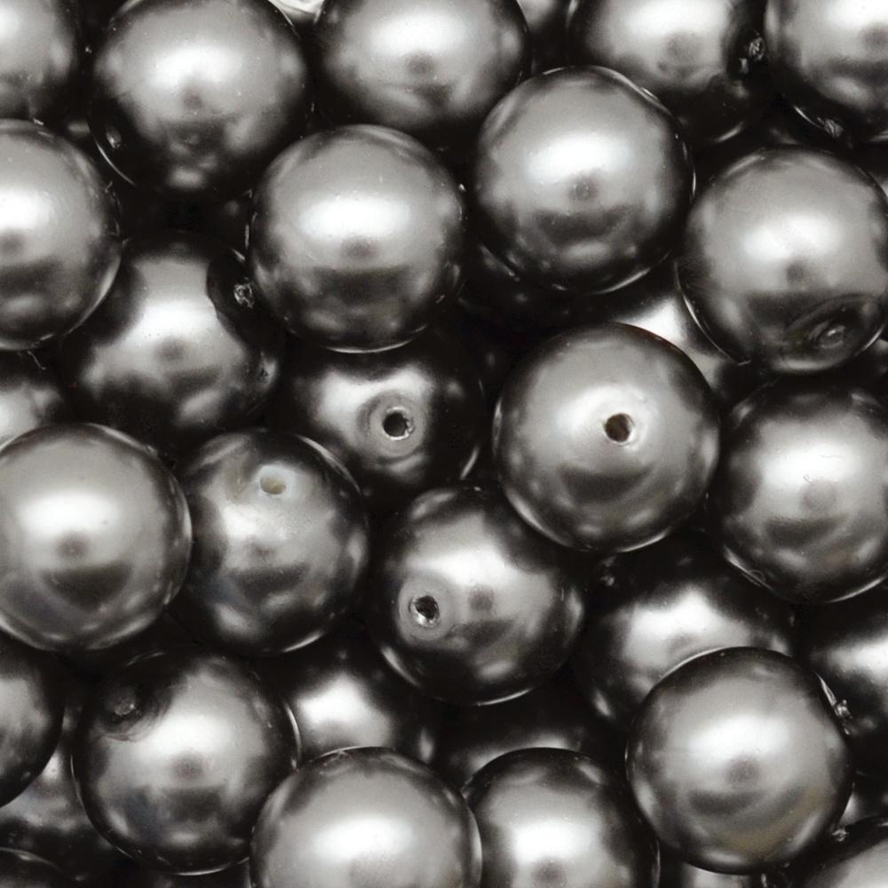 Pérola de Vidro Preciosa Grafite 10mm-300pcs