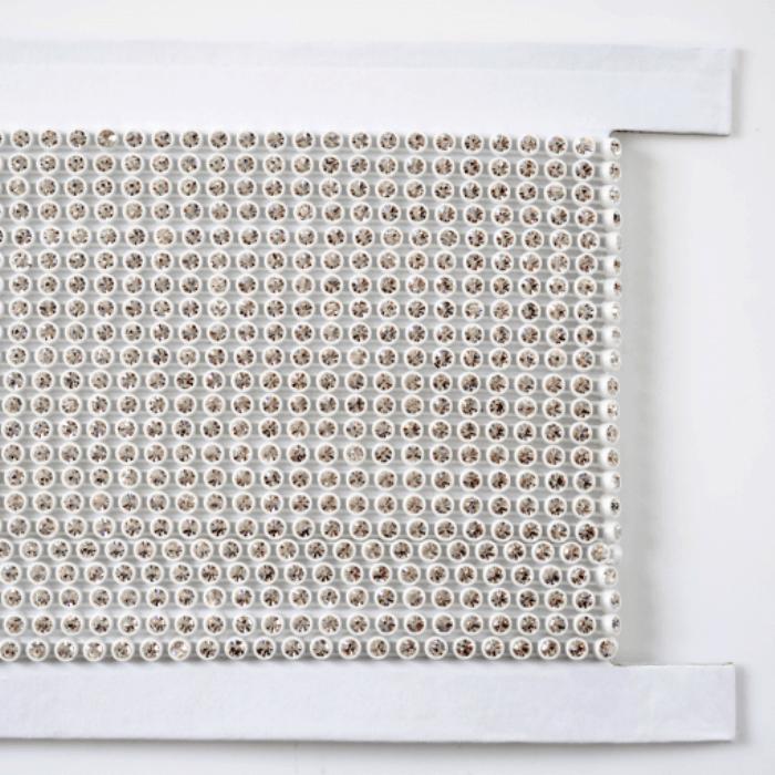 Strass em fio Plástico LDI Cristais® art. 81 por metro Cristal em caixa Branca (00030) SS12= 3,00mm