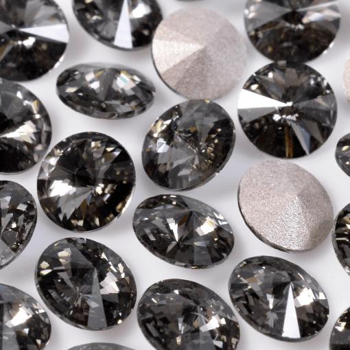 Strass Rivolli Swarovski® art. 1122 base cônica Black DiamondSS29=D=6,20mm