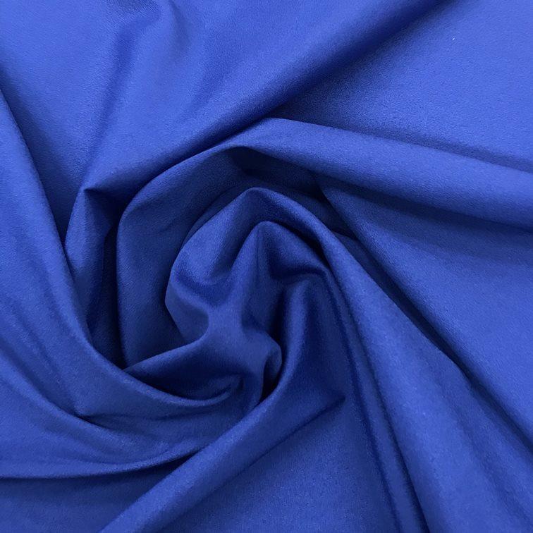 Tecido Crepe Aya Azul Bic - Pantone 3597 C