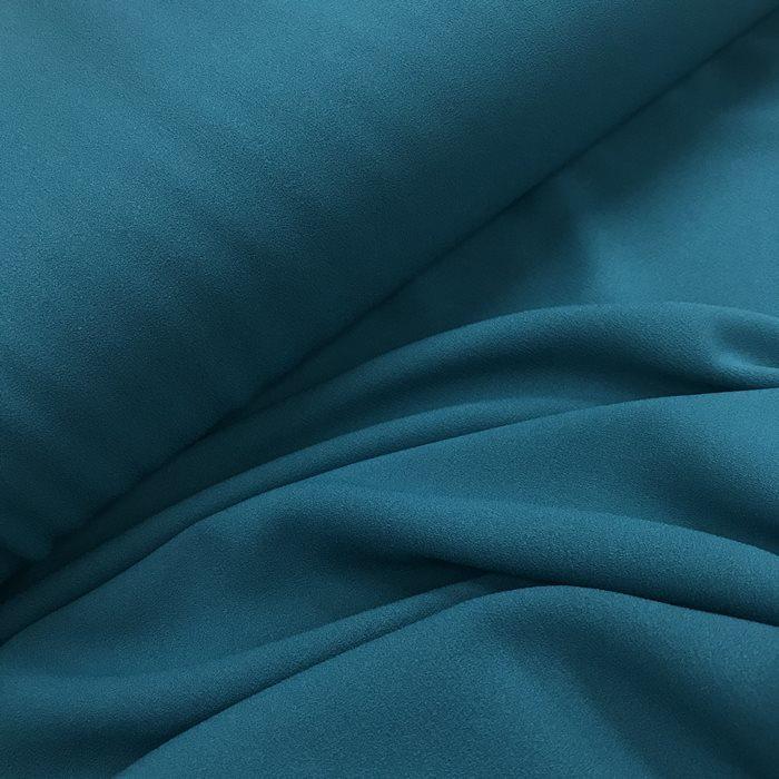 Tecido Crepe Aya Azul Petróleo - Pantone 548 C
