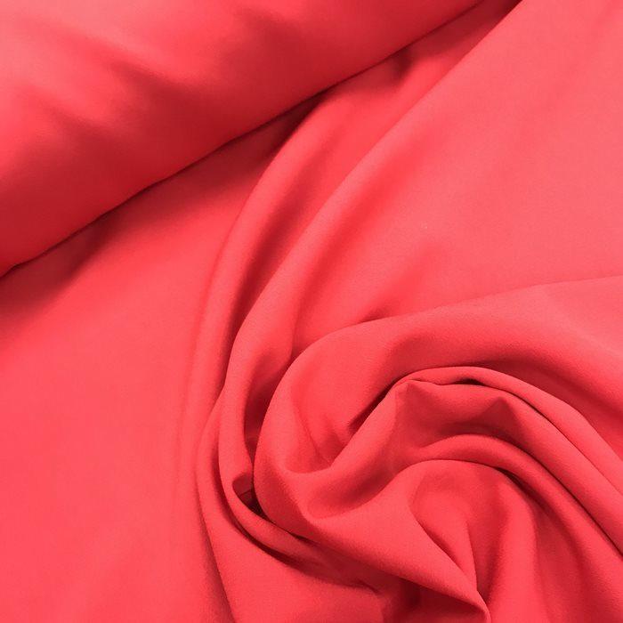 Tecido Crepe Aya Vermelho Gabriela - Pantone 185 C