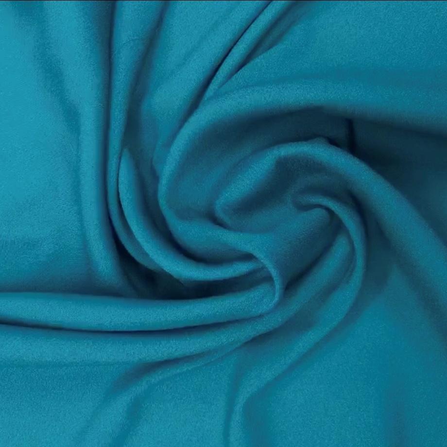 Tecido Crepe Valentino Azul Petróleo - Pantone 2238-C