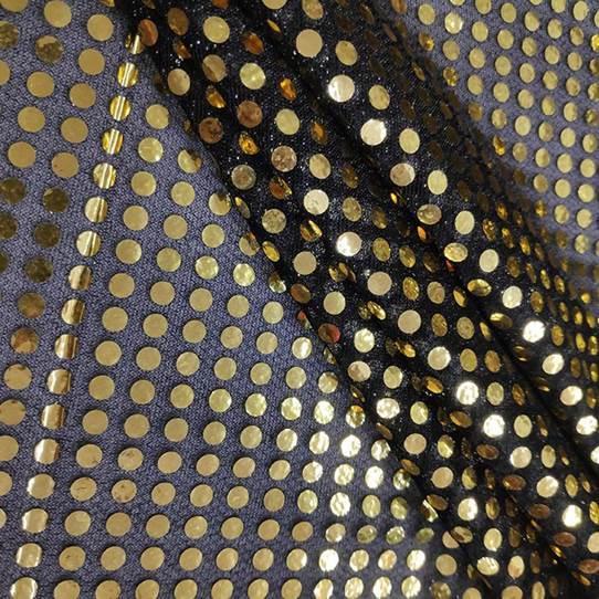 Tecido Lantejoula Dourada