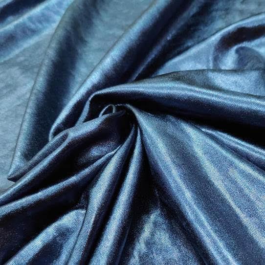 Tecido Lurex Especial Azul Petróleo