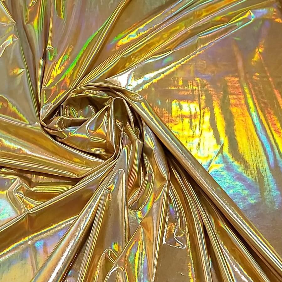 Tecido Malha Vinil Furtacor Dourado
