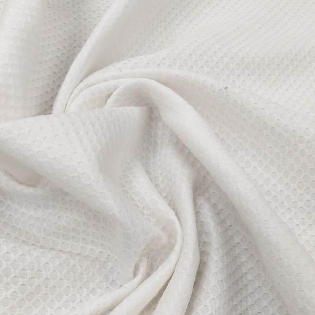 Tecido Piquet Casa de Abelha Branco