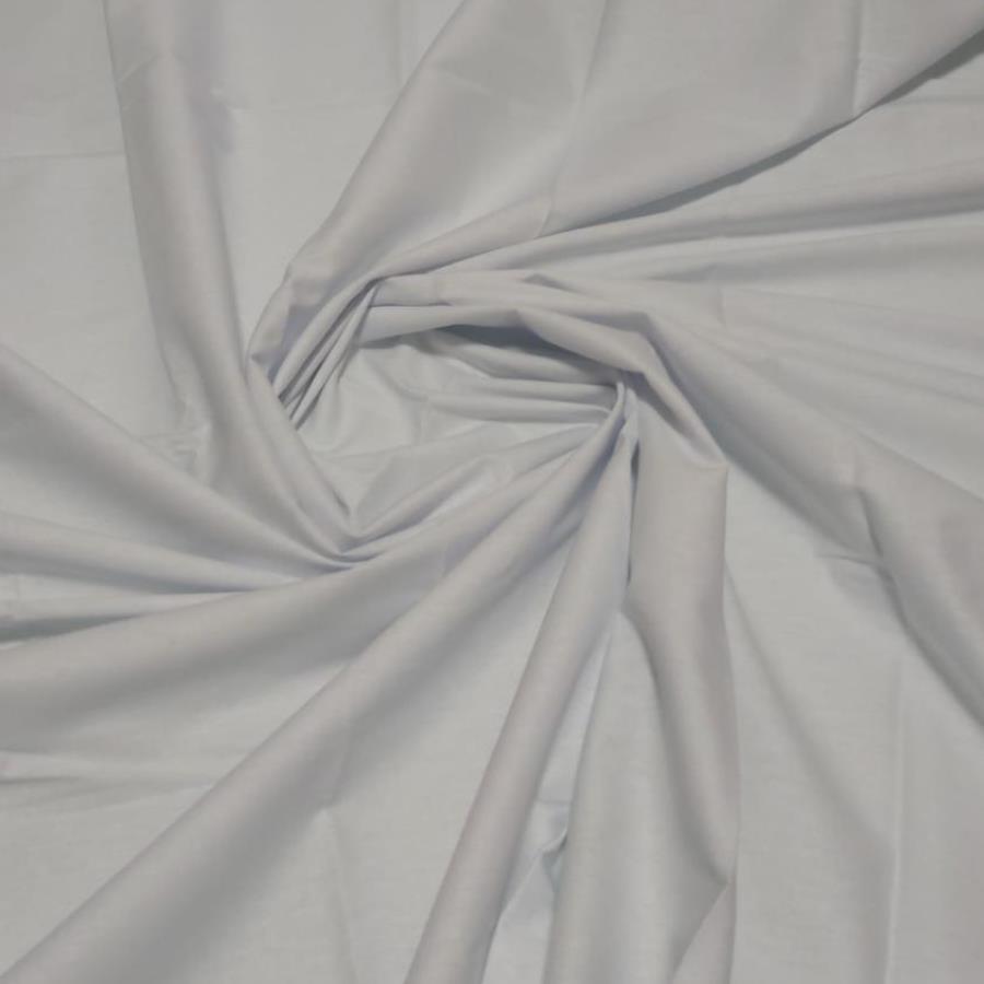 Tecido Tricoline 100% algodão Branco 1,70 Largura