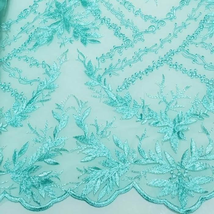 Tecido Tule Bordado Giulia Tiffany