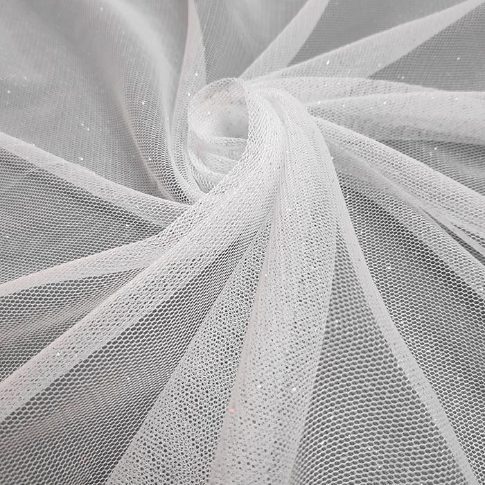 Tecido Tule Com Brilho Branco