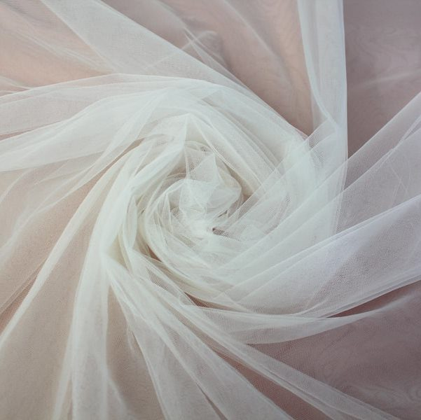 Tecido Tule Francês Fosco Branco - 3,00m de largura