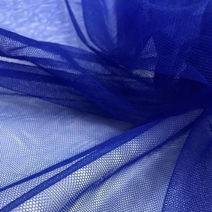 Tecido Tule Ilusion Italiano Azul Bic