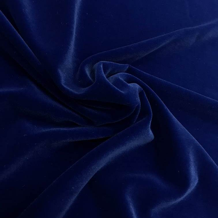 Tecido Veludo Tipo Alemão Azul - Pantone 2372 C