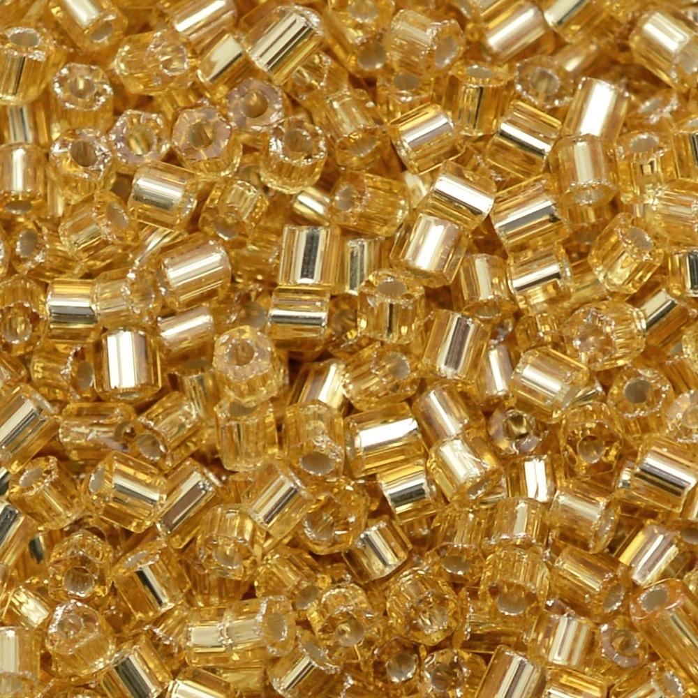Vidrilho Transp. Preciosa Ouro Novo 2x9/0=2,6mm 500g