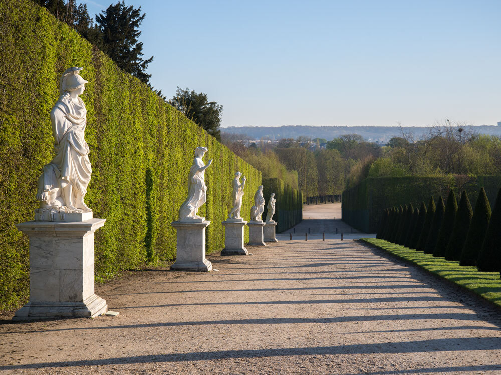 Park bij het Paleis van Versailles anno nu