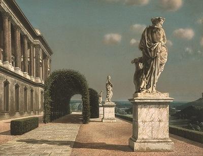 Carel Willink, Terras met pergola, 1951, collectie Museum MORE-Kasteel Ruurlo ©Sylvia Willink-Pictoright
