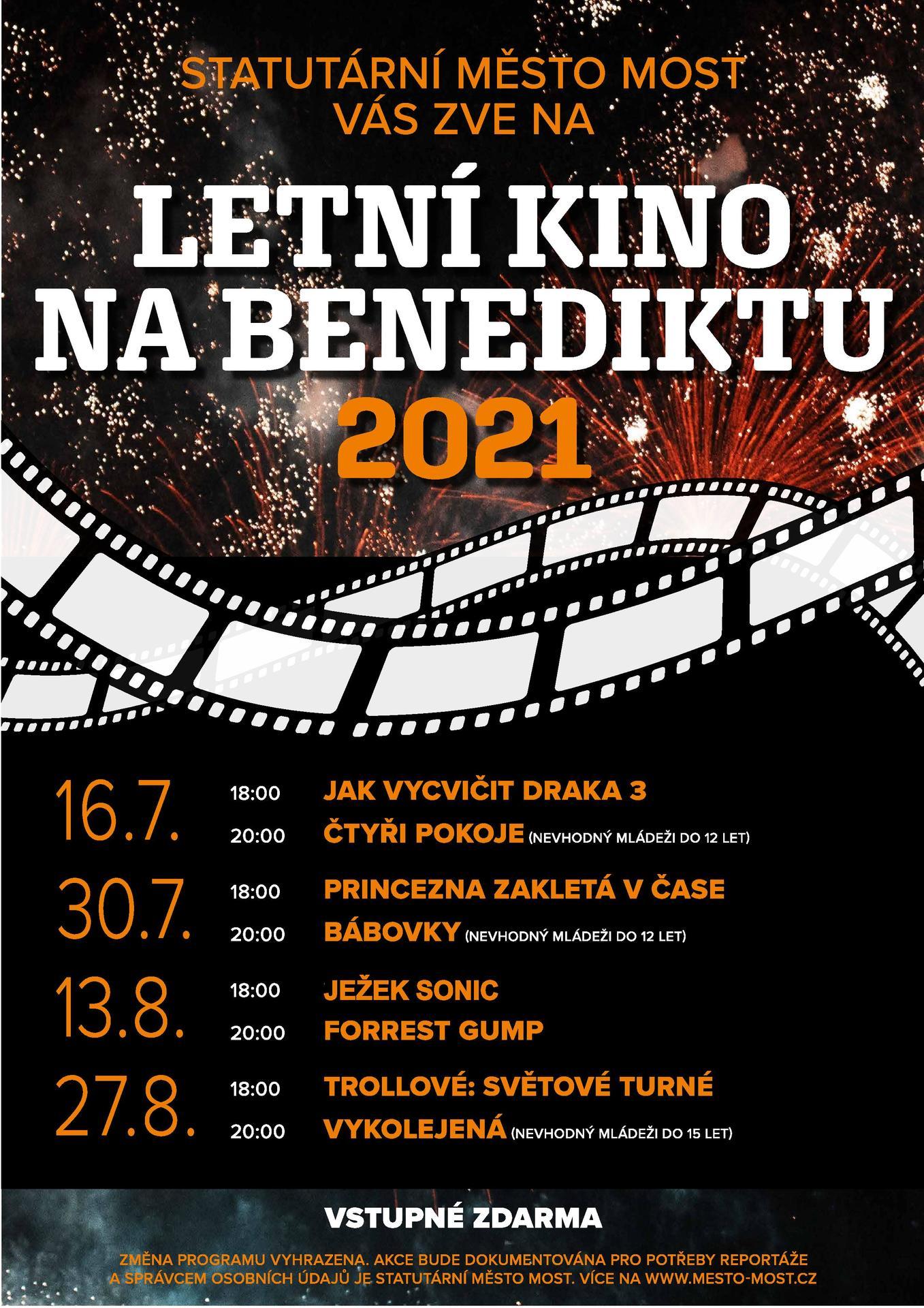 Letní kino na Benediktu - Jak vycvičit draka 3 a Čtyři pokoje