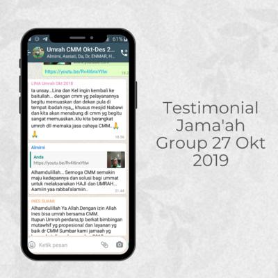 Testimonial Jama'ah Group 27 Okt 2019
