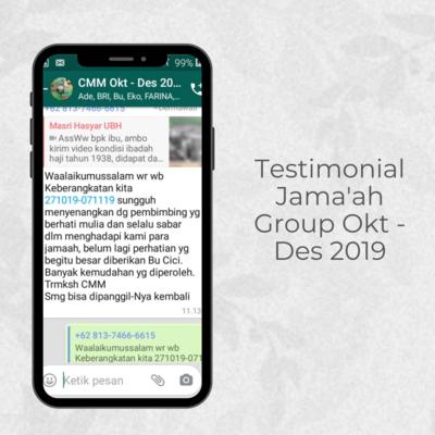 Testimonial Jamaah Group Okt - Des 2019