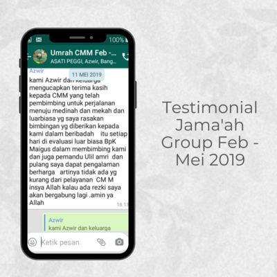 Testimonial Jamaah Group Feb - Mei 2019