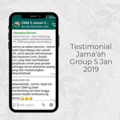 Testimonial Jamaah Group 5 Jan 2019