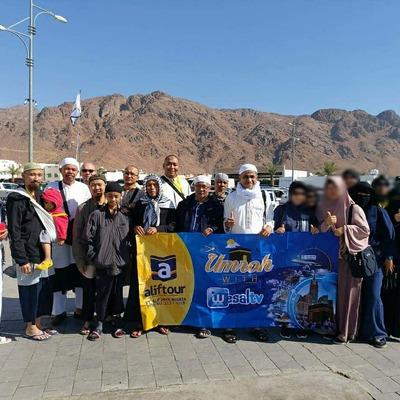 Jemaah ALIF TOUR Rombongan 22 Desember 2019 Saat Mengunjungi Jabal Uhud