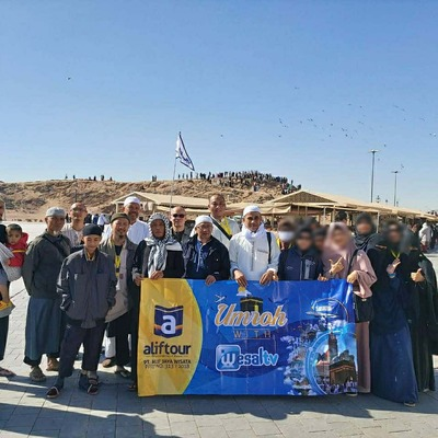 Jemaah ALIF TOUR Rombongan 22 Desember 2019 saat mengunjungi Jabal Rumat