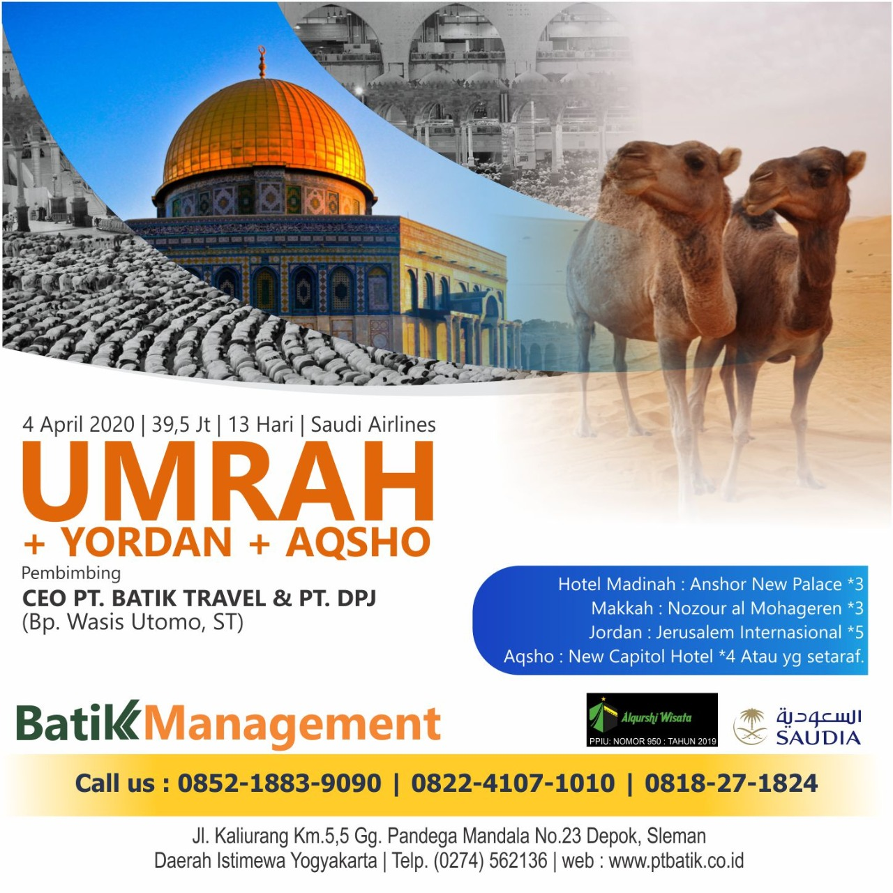 Umroh  PLUS Yordan PLUS Aqsho - 4 April 2020