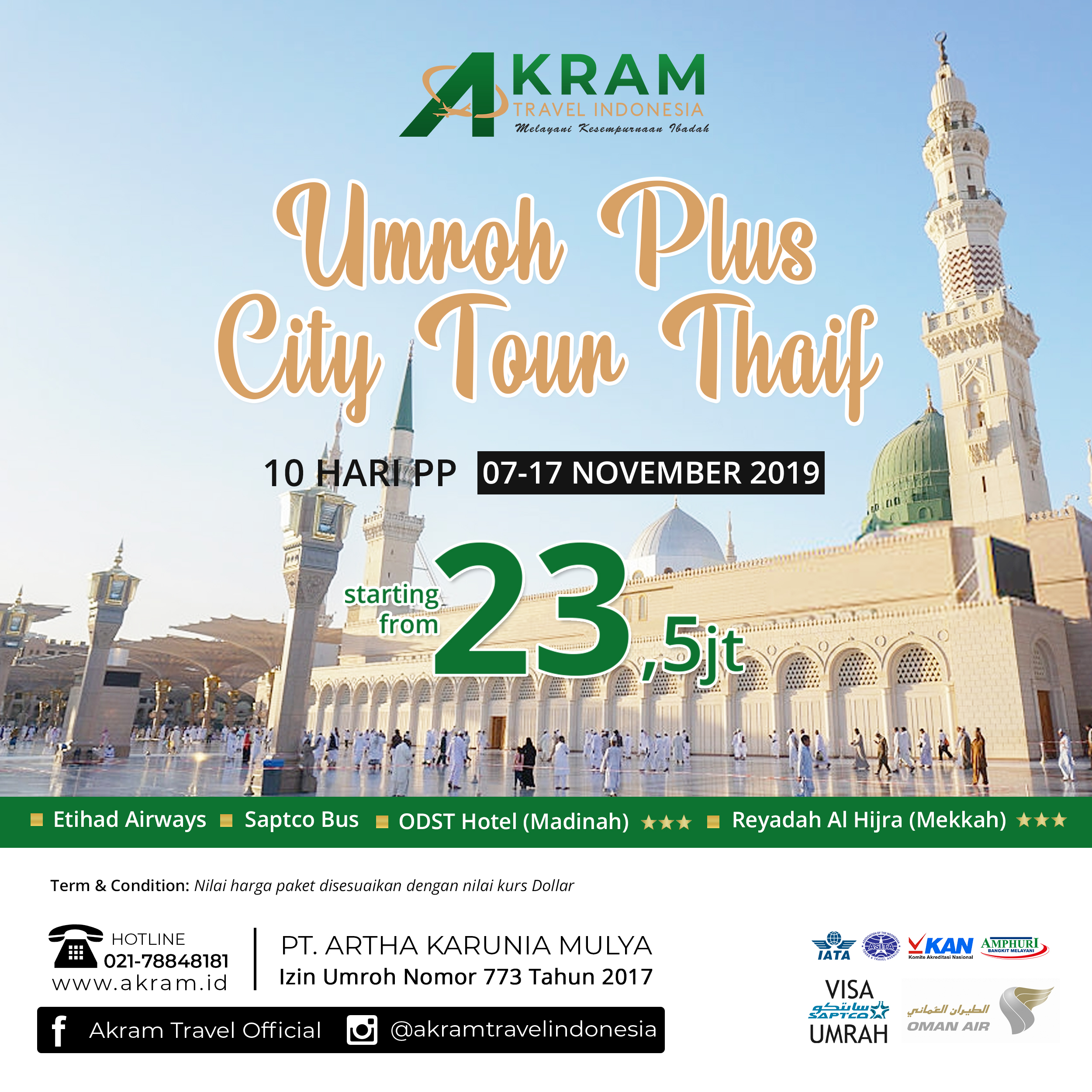 Umroh Plus City Tour Thaif