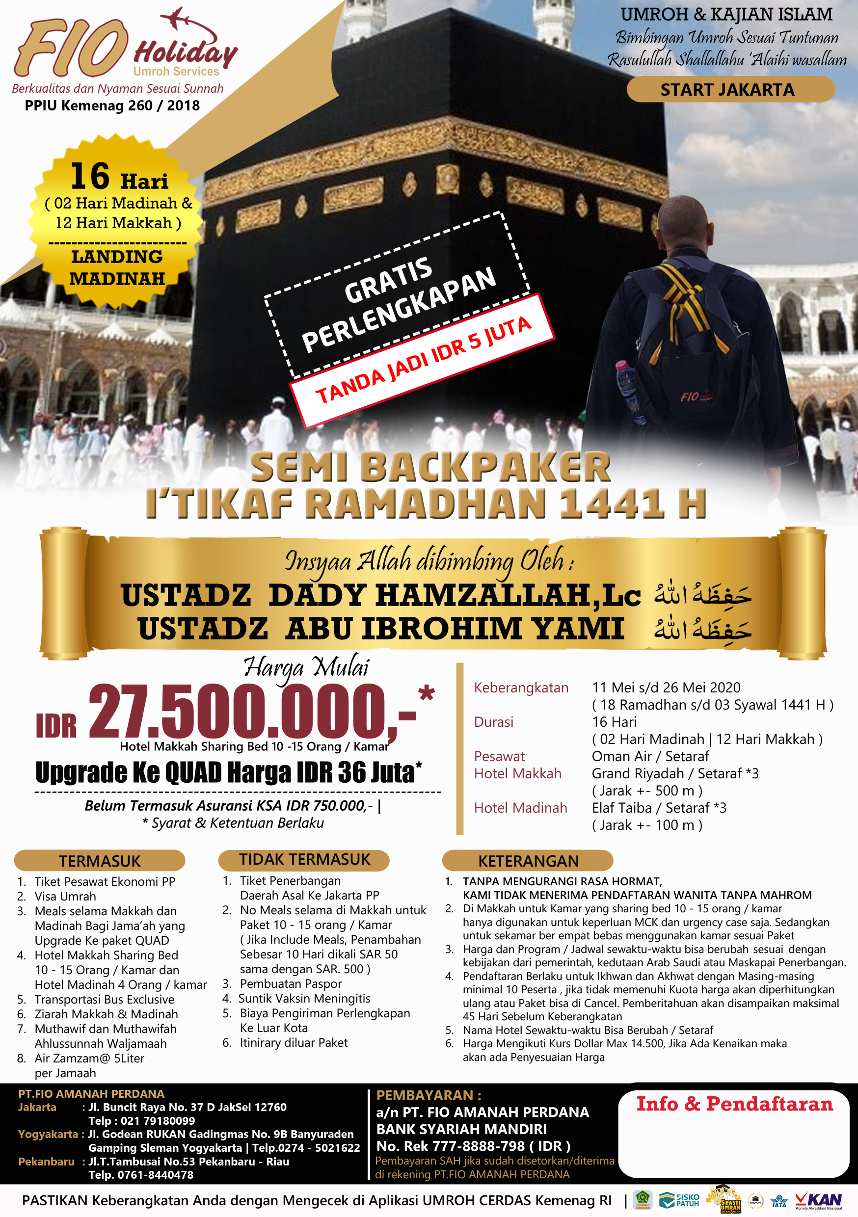 SEMI BACKPAKER I'TIKAF RAMADHAN