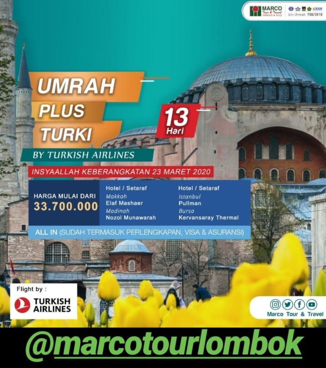 PAKET UMROH PLUS TURKI 13D