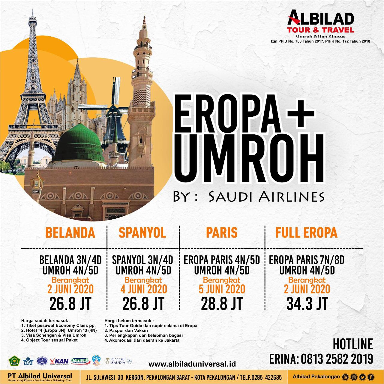 2 Jun 2021 Umroh Plus Full Eropa
