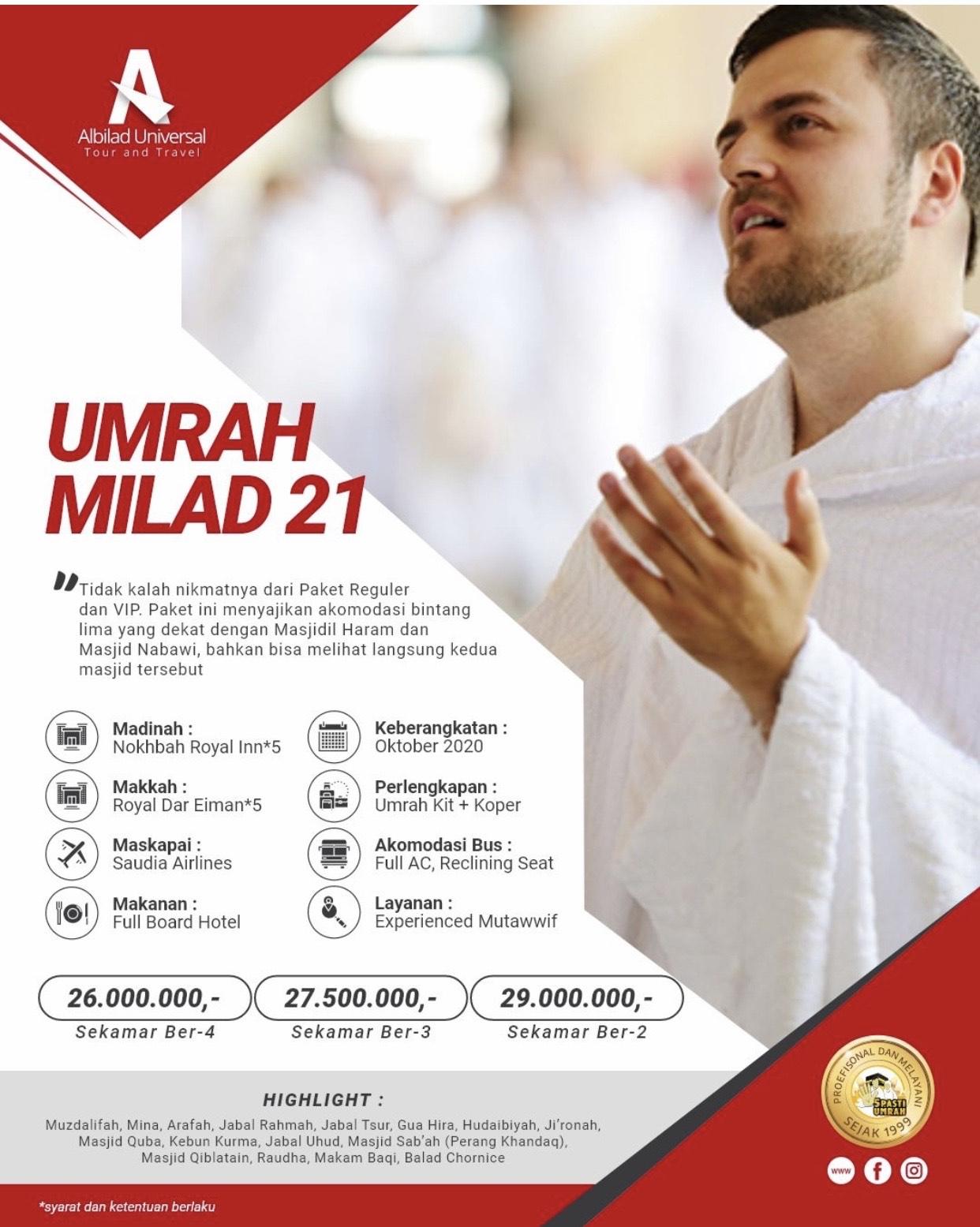 13-23 Okt 2021 Umroh Reguler By Saudia