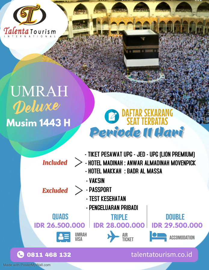 Umroh Deluxe 1443 H