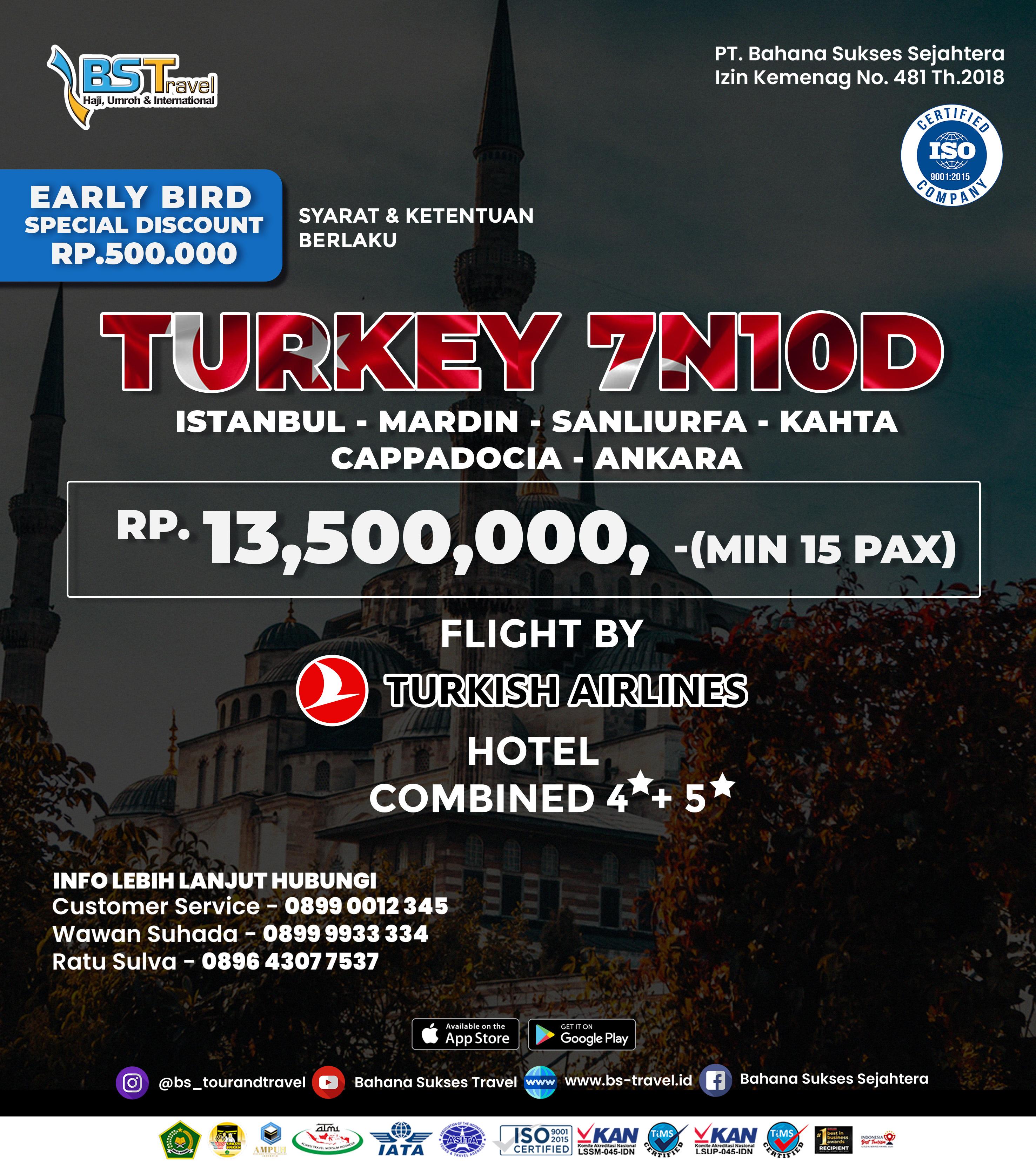 Paket Wisata Turki 7N10D - 2021