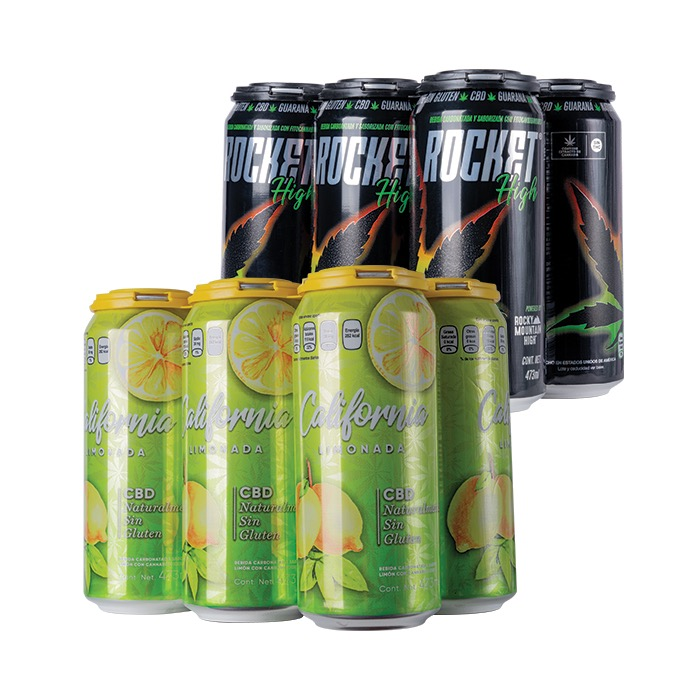 6 ROCKET HIGH + 6 LIMONADA CALIFORNIA 473 ML