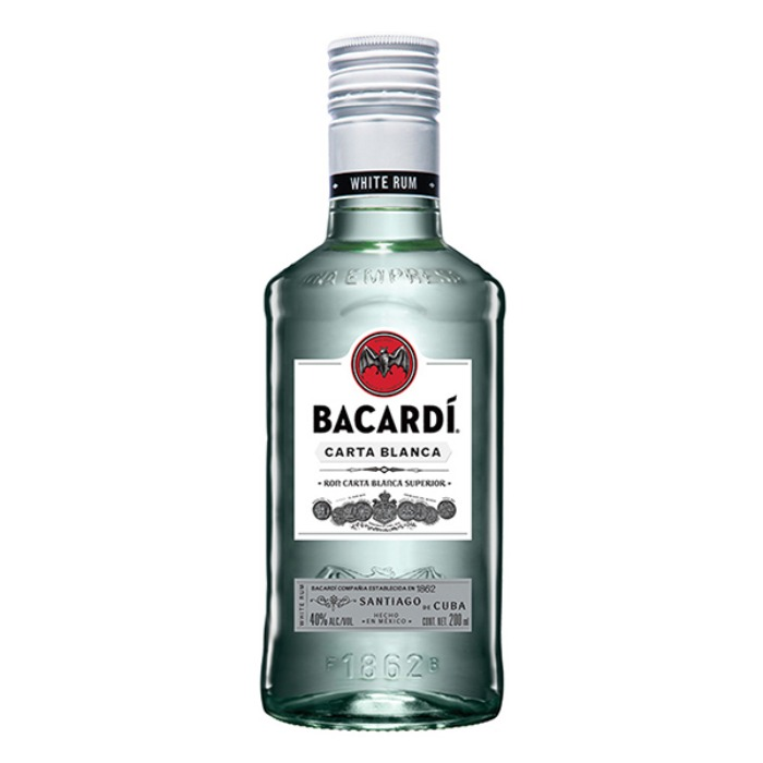 BACARDI BLANCO 200 ML