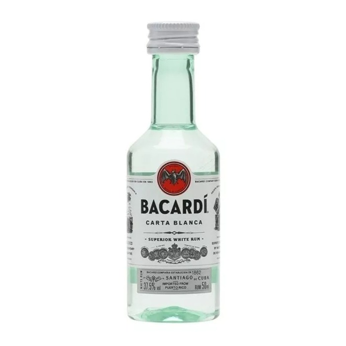 BACARDI BLANCO MINI 50 ML