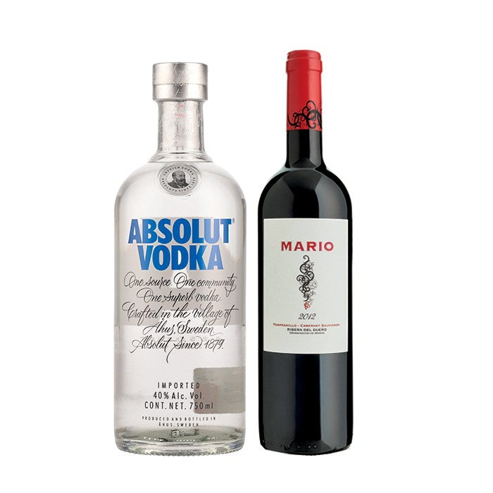 COMBO MARIO + ABSOLUT AZUL 750 ML