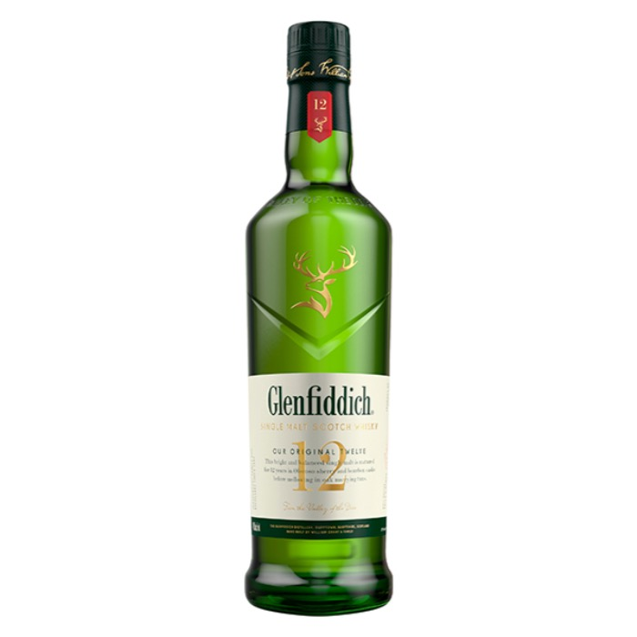 GLENFIDDICH SINGLE MALT 12 AÑOS 750 ML