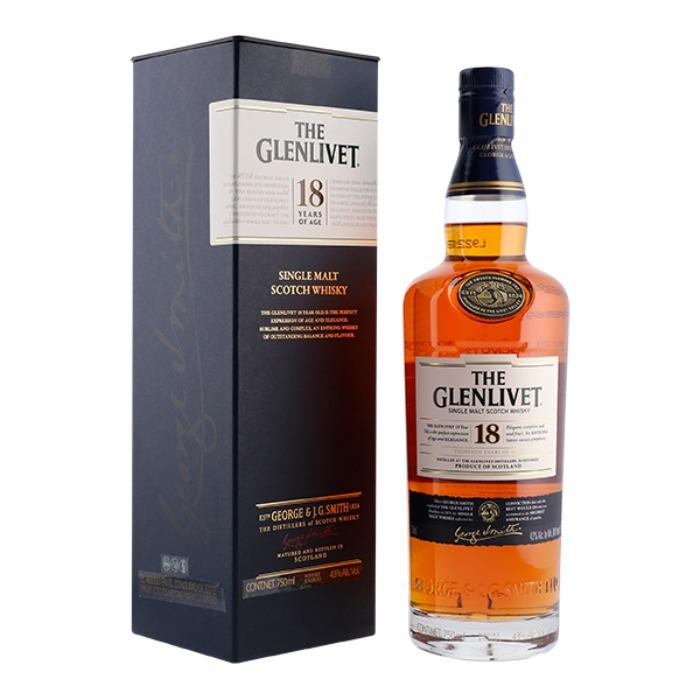 GLENLIVET 18 AÑOS 750 ML